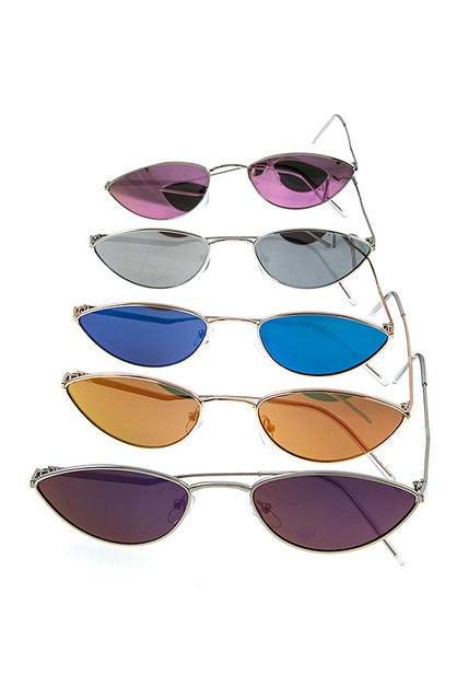 THIN COLOR LENS FASHION SUNGLASSES P - orangeshine.com