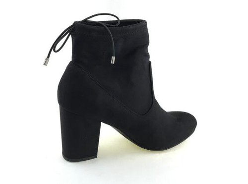 Stacked heel booties - orangeshine.com
