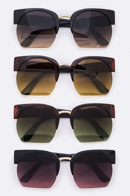 Crop Lens Iconic Oversize Sunglasses - orangeshine.com