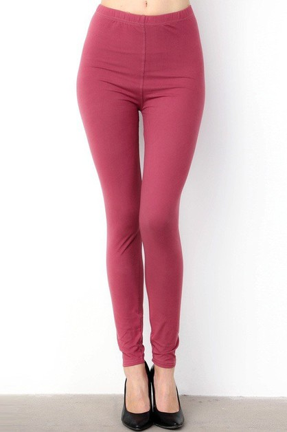 SOLID ANKLE LEGGINGS - orangeshine.com