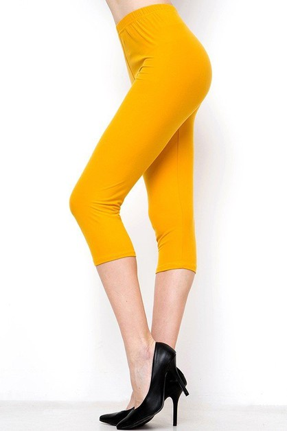 SOFT PEACHSKIN CAPRI LEGGINGS - orangeshine.com