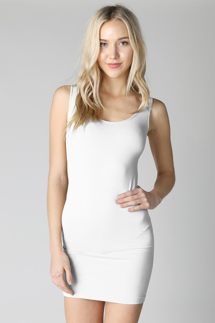 Plain Jersey Tank Dress - orangeshine.com