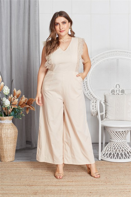 Sleeveless Solid Jumpsuit - orangeshine.com