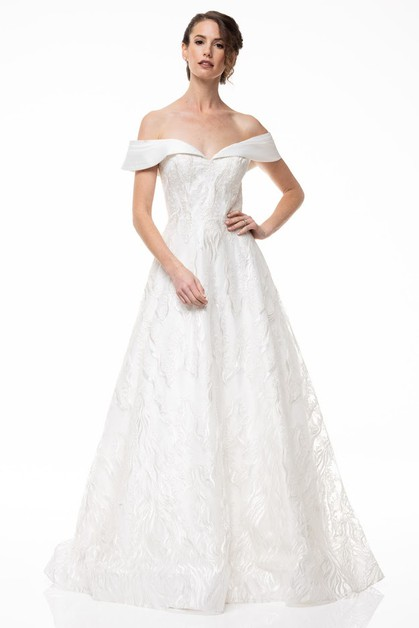 Off Shoulder Bridal Dress - orangeshine.com