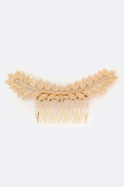 Gold Leaf Iconic Hair Comb - orangeshine.com