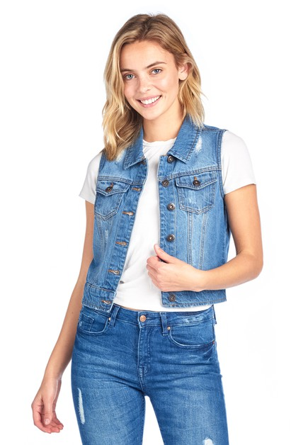 DENIM VEST - orangeshine.com