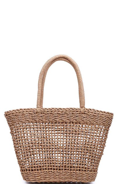 SIONA NATURAL WOVEN TOTE BAG - orangeshine.com