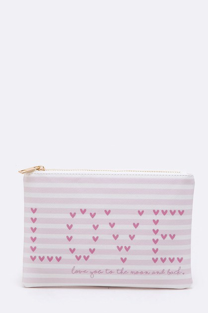 LOVE Printed Iconic Pouch - orangeshine.com