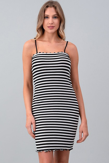 MERROW DETAIL STRIPE MINI DRESS - orangeshine.com