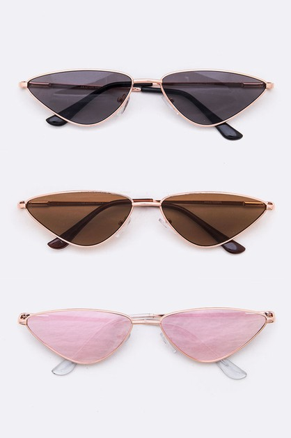 Iconic Skinny Trinangle Sunglasses - orangeshine.com