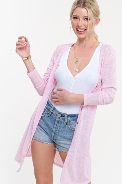 LIGHTWEIGHT SHEER CARDI - orangeshine.com