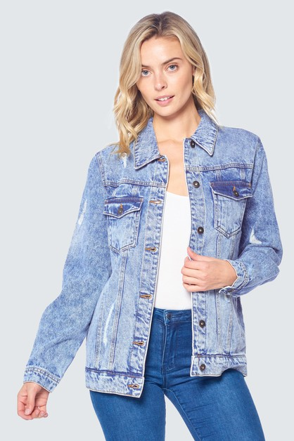 OVERSIZED JEAN JACKET - orangeshine.com
