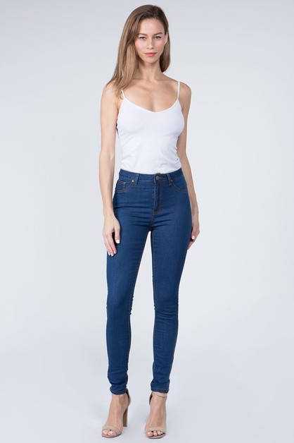 HIGH RISE SUPER SKINNY JEANS - orangeshine.com