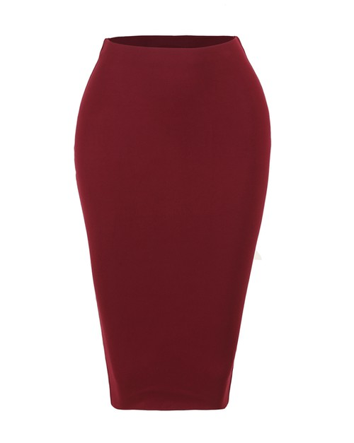 STRETCH KNIT BODYON MIDI SKIRT - orangeshine.com