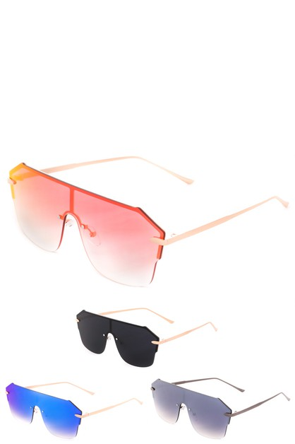 Oversized Rimless Sunglasses - orangeshine.com