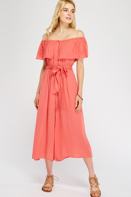 Off-shoulder jumpsuit - orangeshine.com