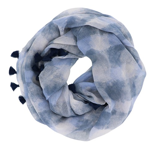Striped Navy Infinity Scarf  - orangeshine.com