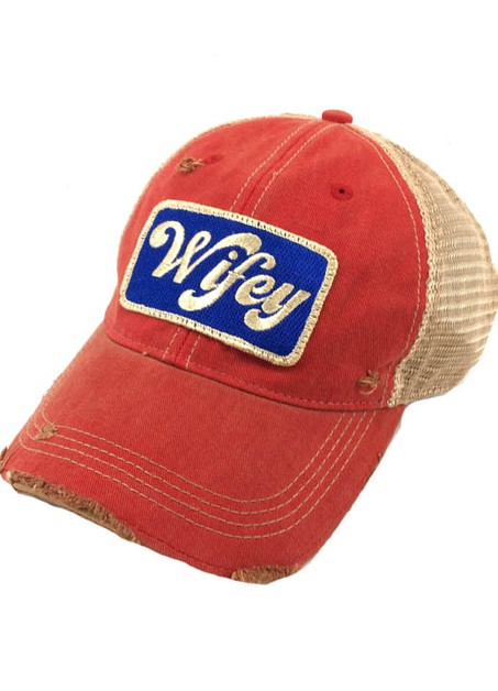 METALLIC WIFEY PATCH - RED - orangeshine.com