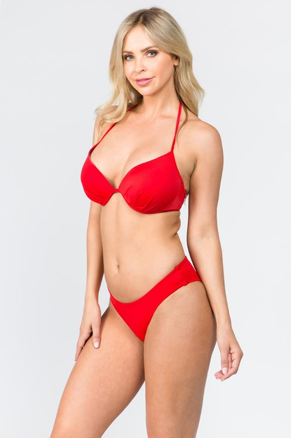 Halter Tie Back with HIpster Bikini - orangeshine.com