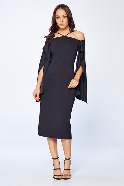 Long Sleeve Midi Dress - orangeshine.com