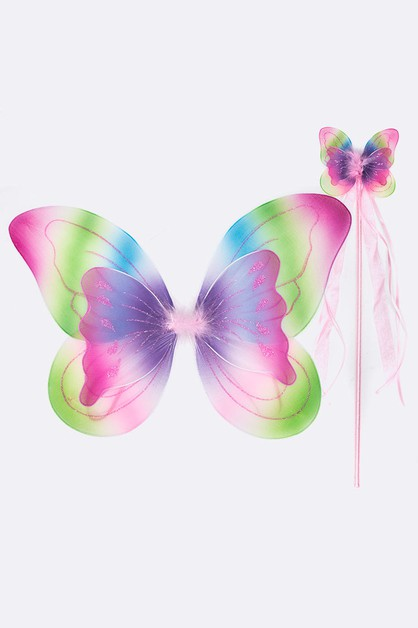 Layer Butterfly Wing Wand Kids Dre - orangeshine.com