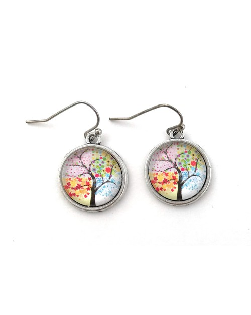 Four Seasons Tree of Life Earrings - orangeshine.com