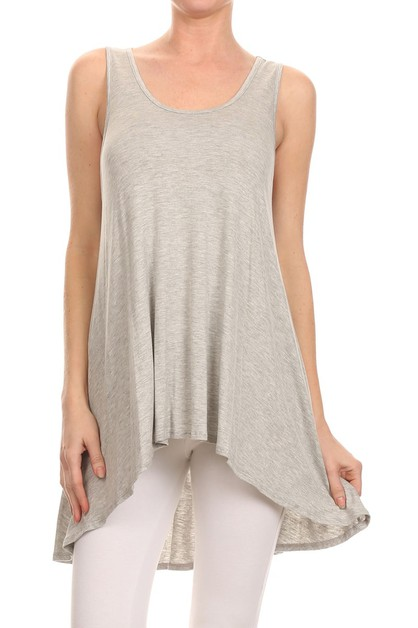 High Low Cut Loose Fit Top  - orangeshine.com