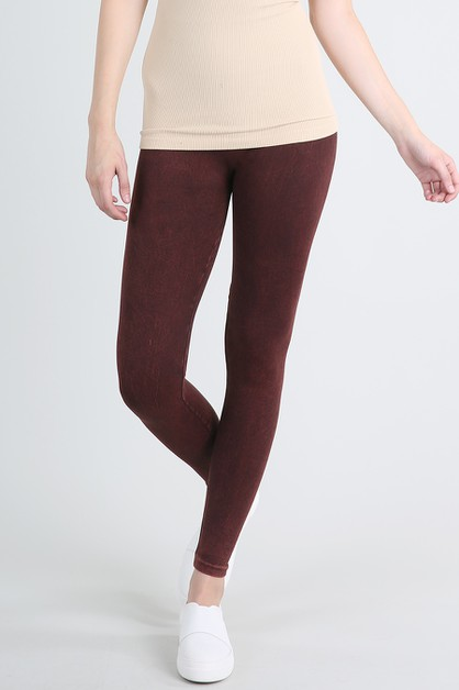 Vintage Dye Long Leggings - orangeshine.com