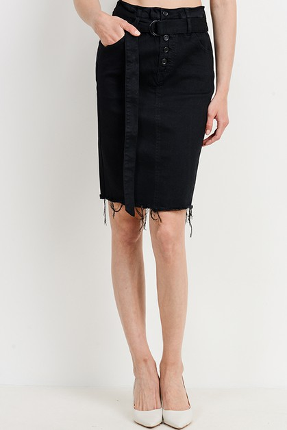 Belted Pencil Skirt - orangeshine.com