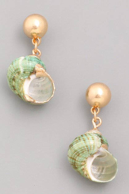 Seashell Drop Earrings - orangeshine.com
