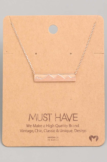 Mountain Bar Pendant Necklace - orangeshine.com