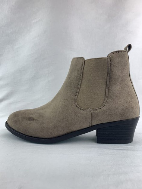 Mid heel pointed toe booties - orangeshine.com