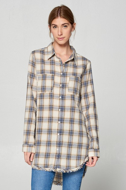 EMMA PLAID SHIRT  - orangeshine.com