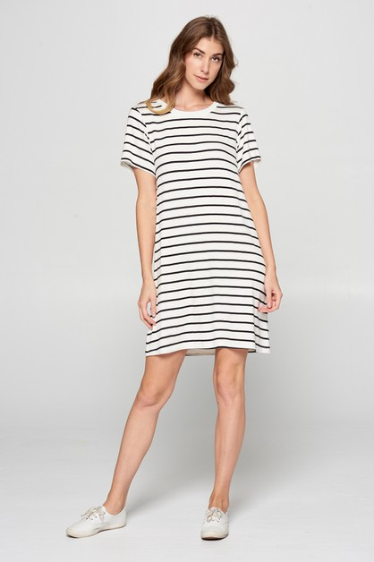 JENNA STRIPE KNIT DRESS - orangeshine.com