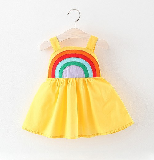 Rainbow  Embroidered Dresses - orangeshine.com
