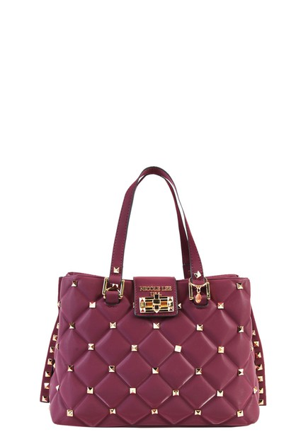 STUDDED HANDBAG QUILTED - orangeshine.com