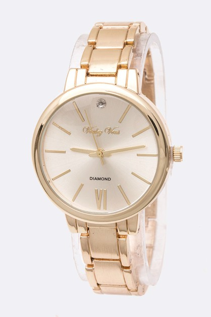 Crystal Accent Classic Watch - orangeshine.com