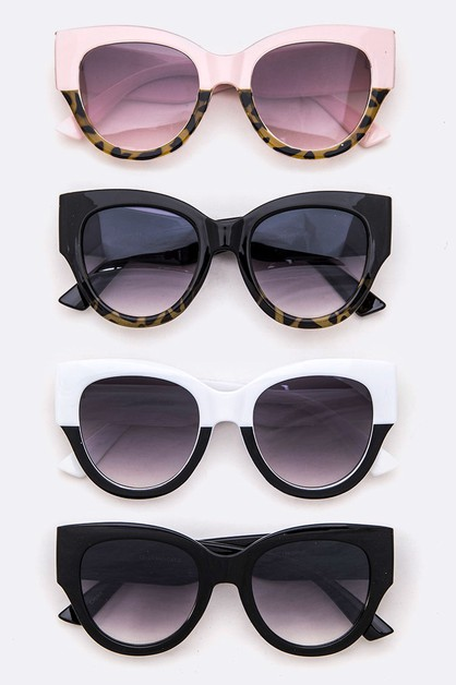 2 Tone Cat Eye Sunglasses - orangeshine.com