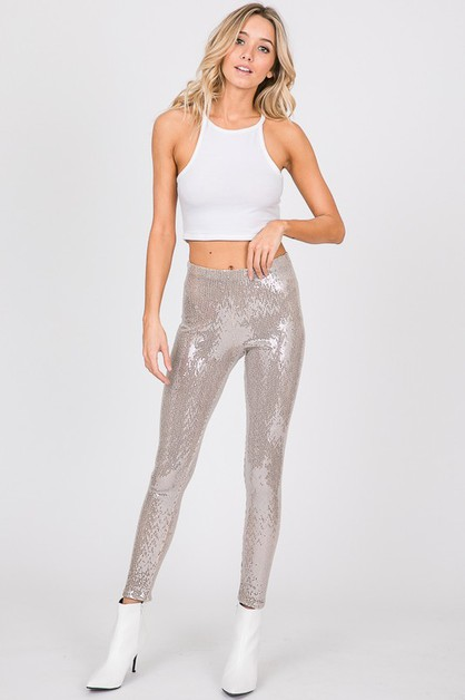 Soft Small Sequin Stretch Legging - orangeshine.com