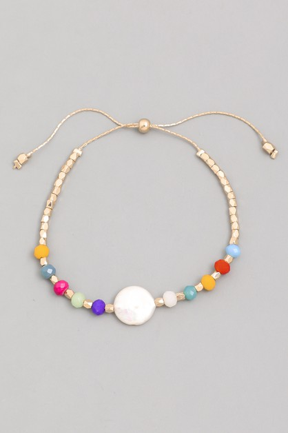 Pearl Adjustable Bracelet - orangeshine.com