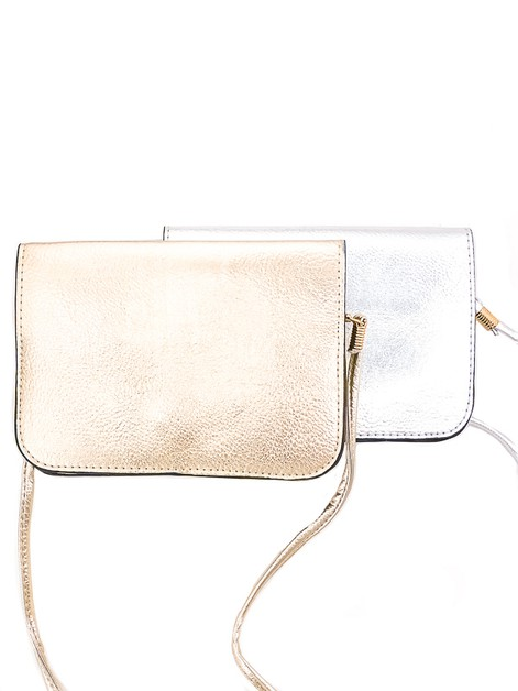 Metallic Pebbled Vegan Clutch - orangeshine.com