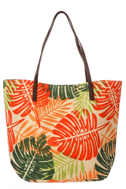 Tropical Leaf Tote Bag - orangeshine.com