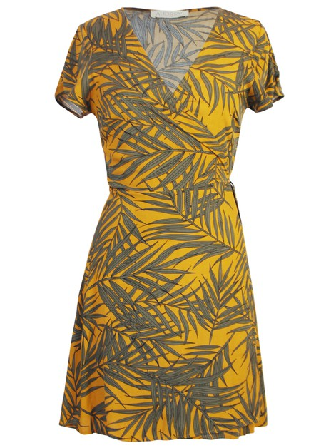 Leafy Wrap Dress - orangeshine.com