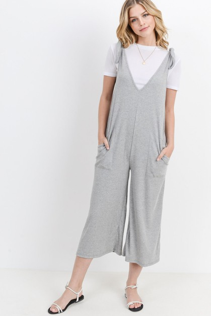 Shoulder Tied Front Pocket Jumpsuit - orangeshine.com