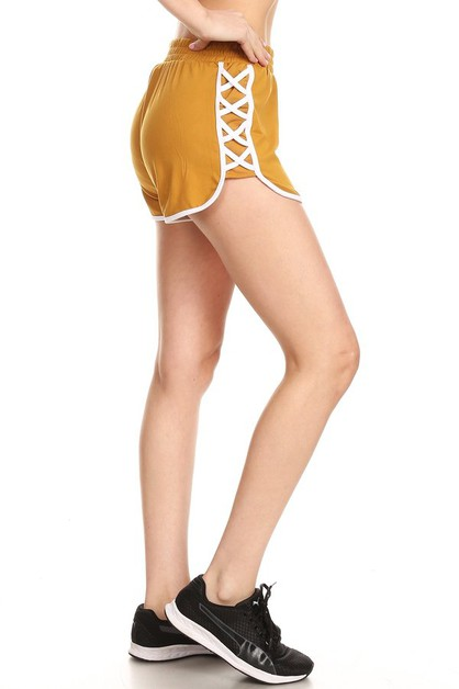 Criss Cross Sports Track Shorts - orangeshine.com