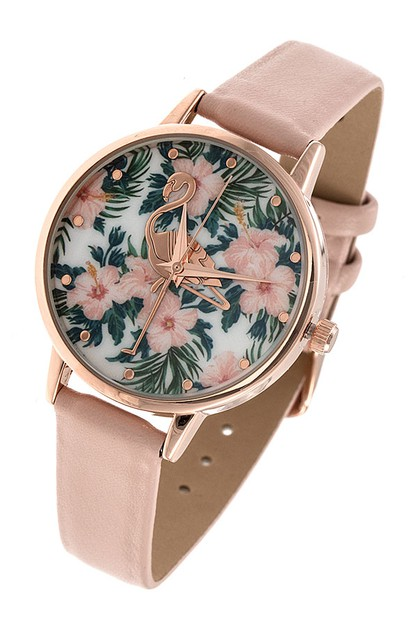 FLAMINGO FACE TEMPLATE WATCH - orangeshine.com