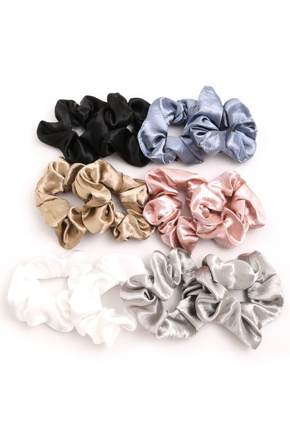 Twelve Piece Bright Scrunchie Set - orangeshine.com