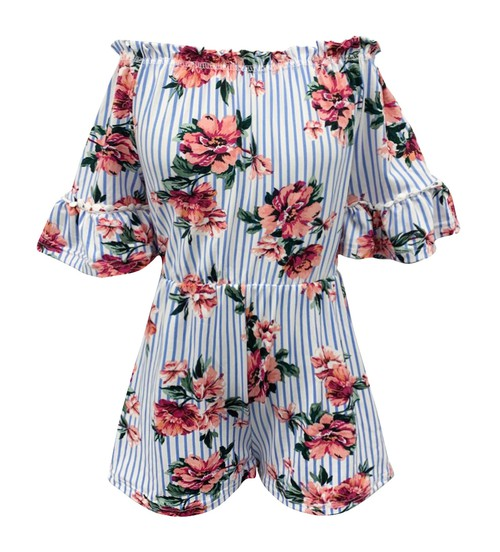 Kids Floral Dresses Rompers Girls - orangeshine.com