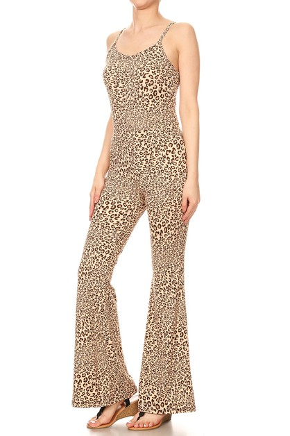 Leopard Animal Jumpsuit Romper Soft - orangeshine.com