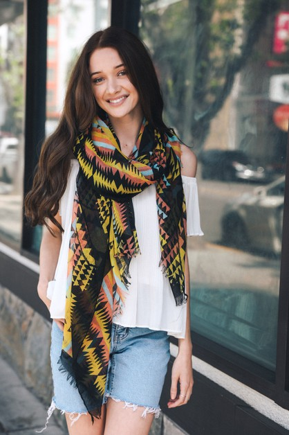 Tribal Multicolor Scarf - orangeshine.com